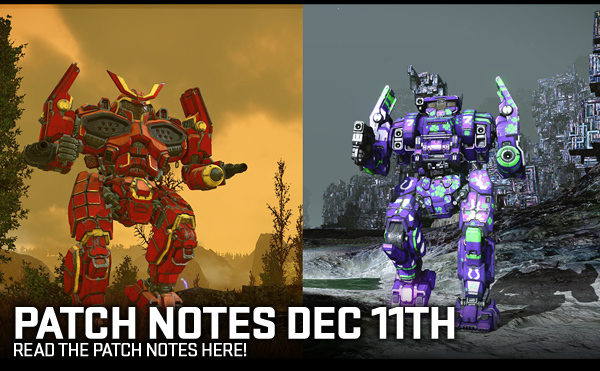 MechWarrior Online Patch Notes - 1.4.190.0 - 11-DEC-2018