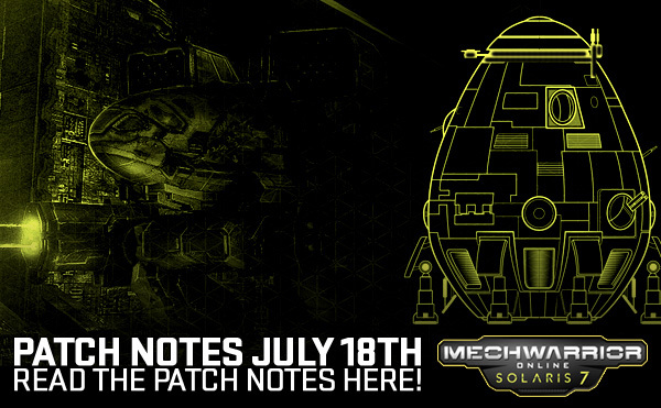 MechWarrior Online Patch Notes July 16th