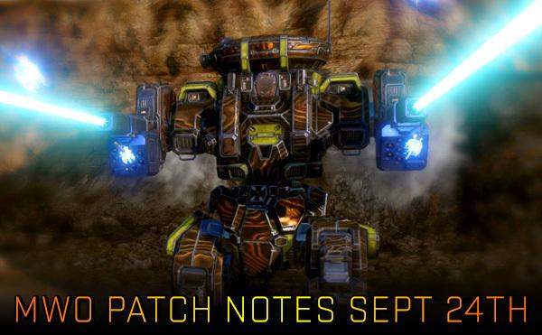 MechWarrrior Online September 24th Patch Notes