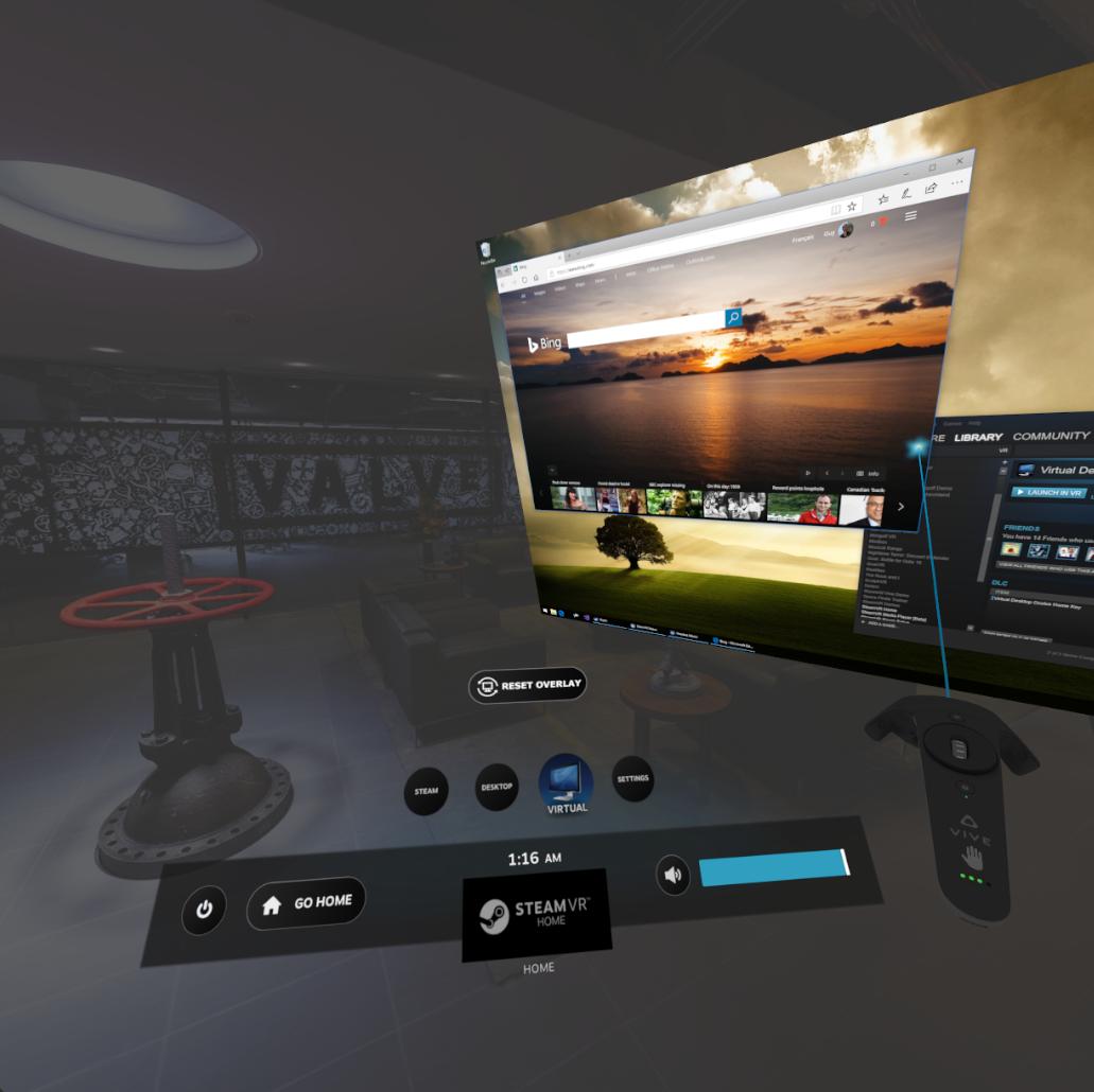 Virtual Desktop :: Update 1 6 - New SteamVR Dashboard, Google