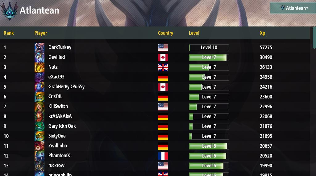 leaderboards legion