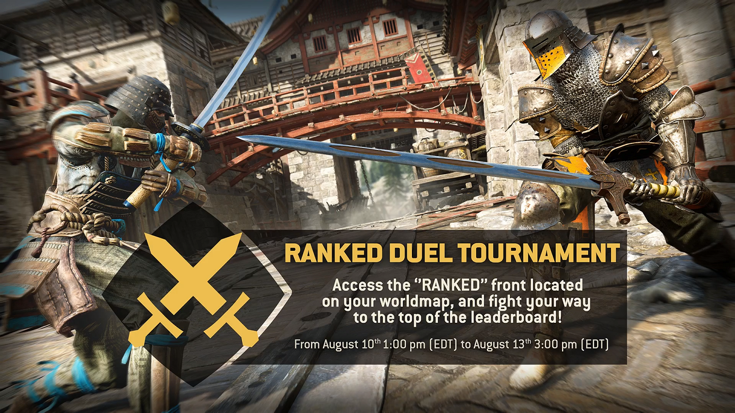 Steam community for honor complimenting ranked tournaments first rotation we are releasing our first ranked event order with the ranked vanquisher event order each faction will gumiabroncs Gallery