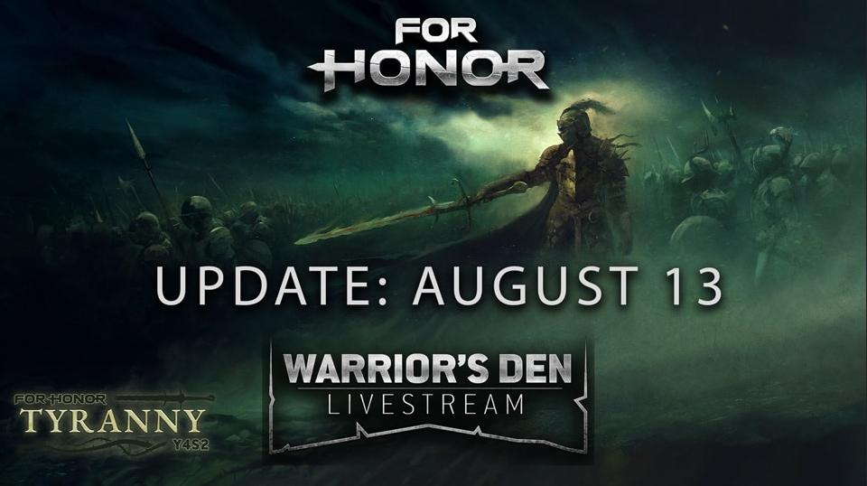 WARRIOR'S DEN - AUGUST 13