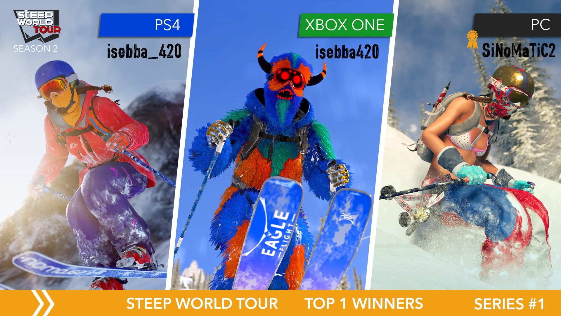 Aug 9, 2017 Steep World Tour - 'Find your way': the winners! Steep