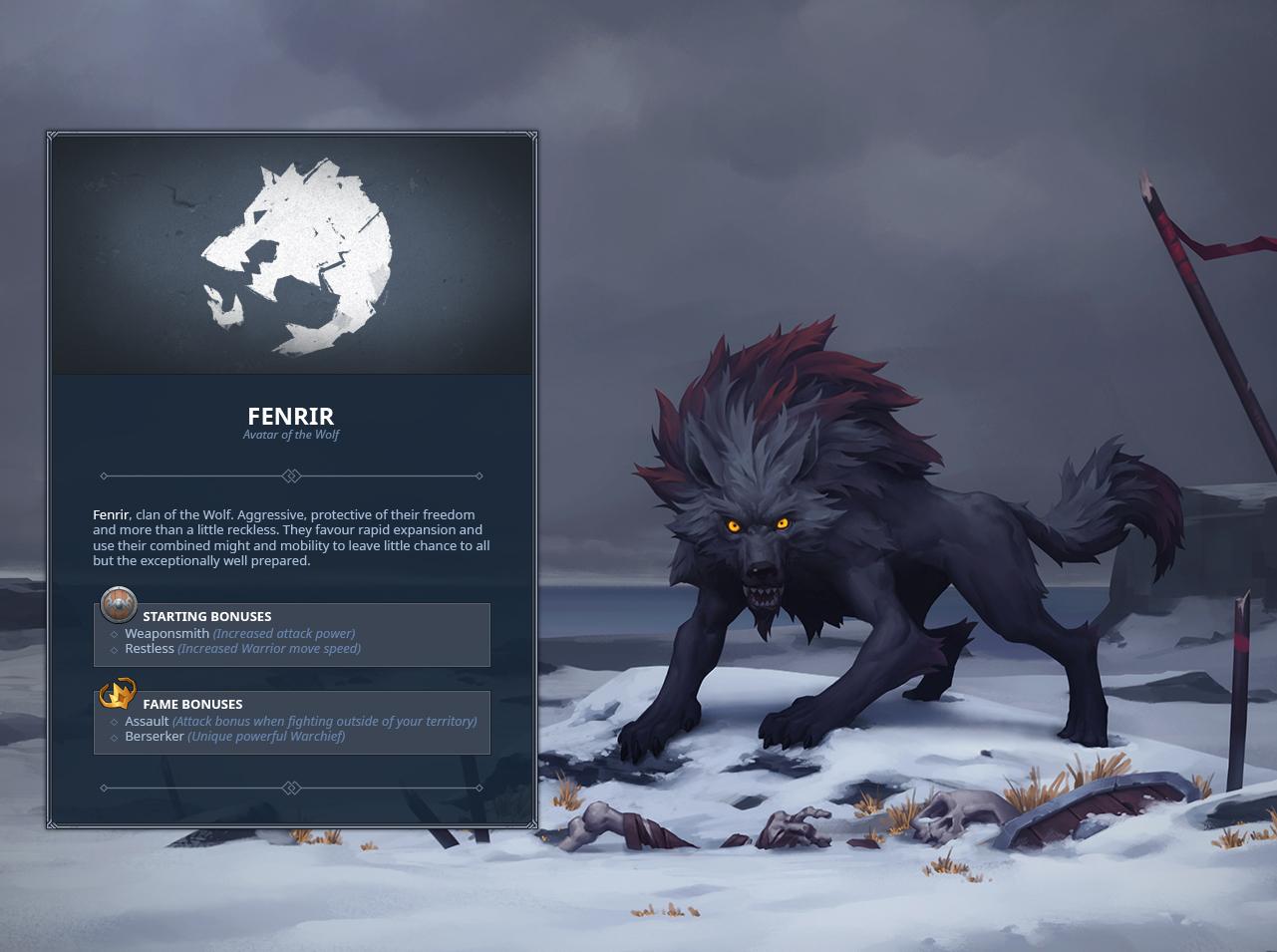 1810e37f4 Northgard :: Fenrir clan of the Wolf.