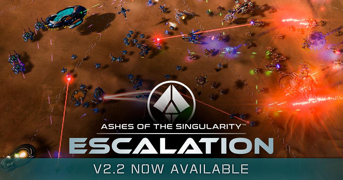 Apr 6, 2017 Massive v2 2 Update for Ashes of the Singularity