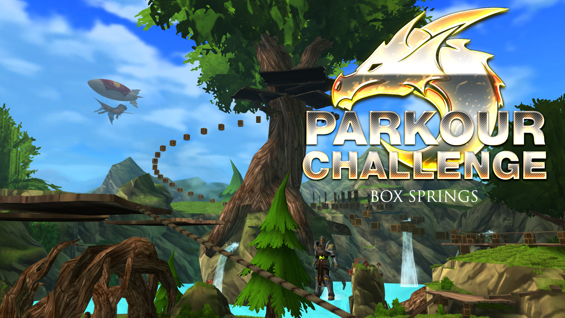 AdventureQuest 3D :: Parkour Challenge! Earn 3 badges in Box
