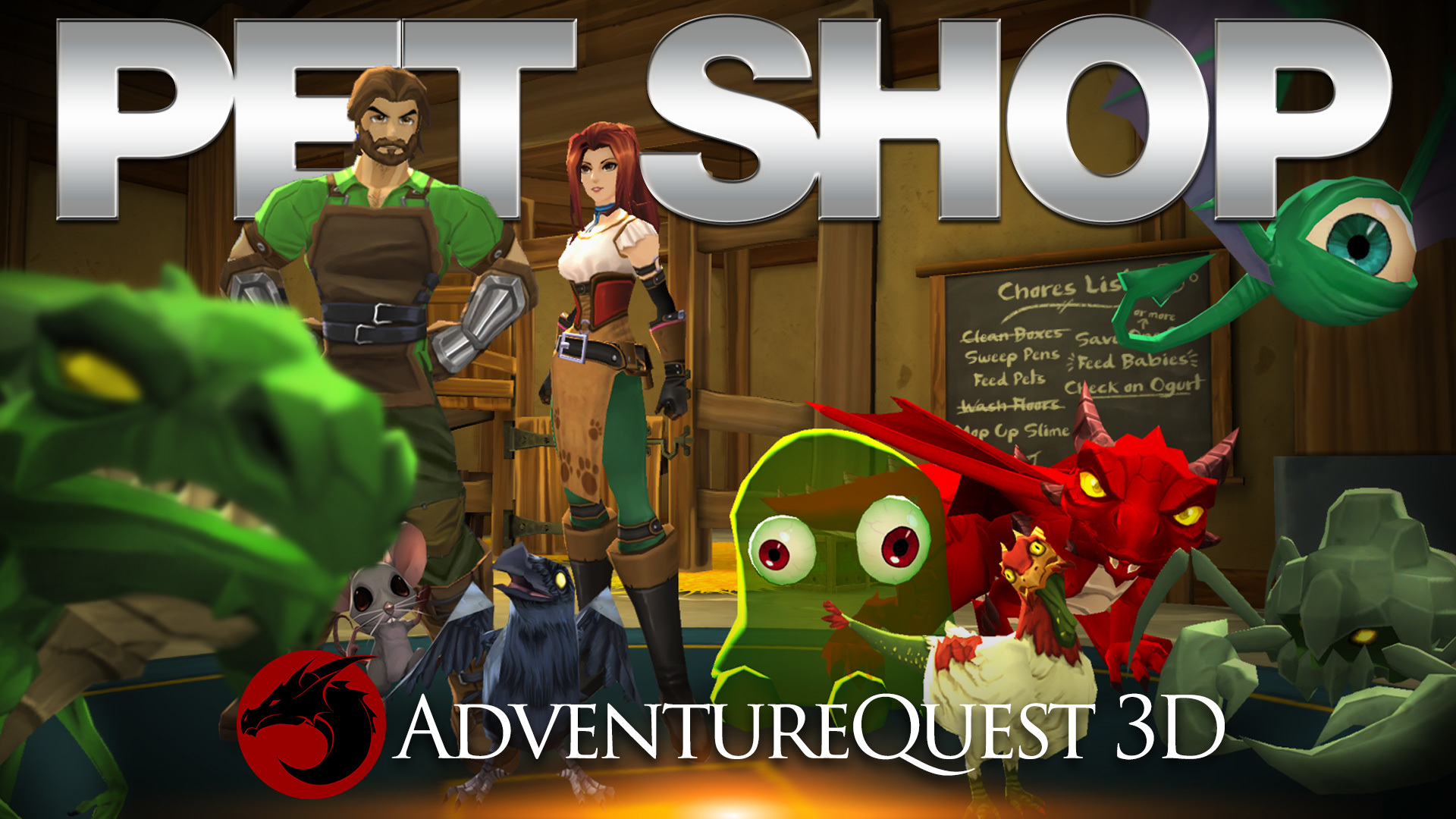 AdventureQuest 3D :: Aria's Pet Shop is Live! 30 pets