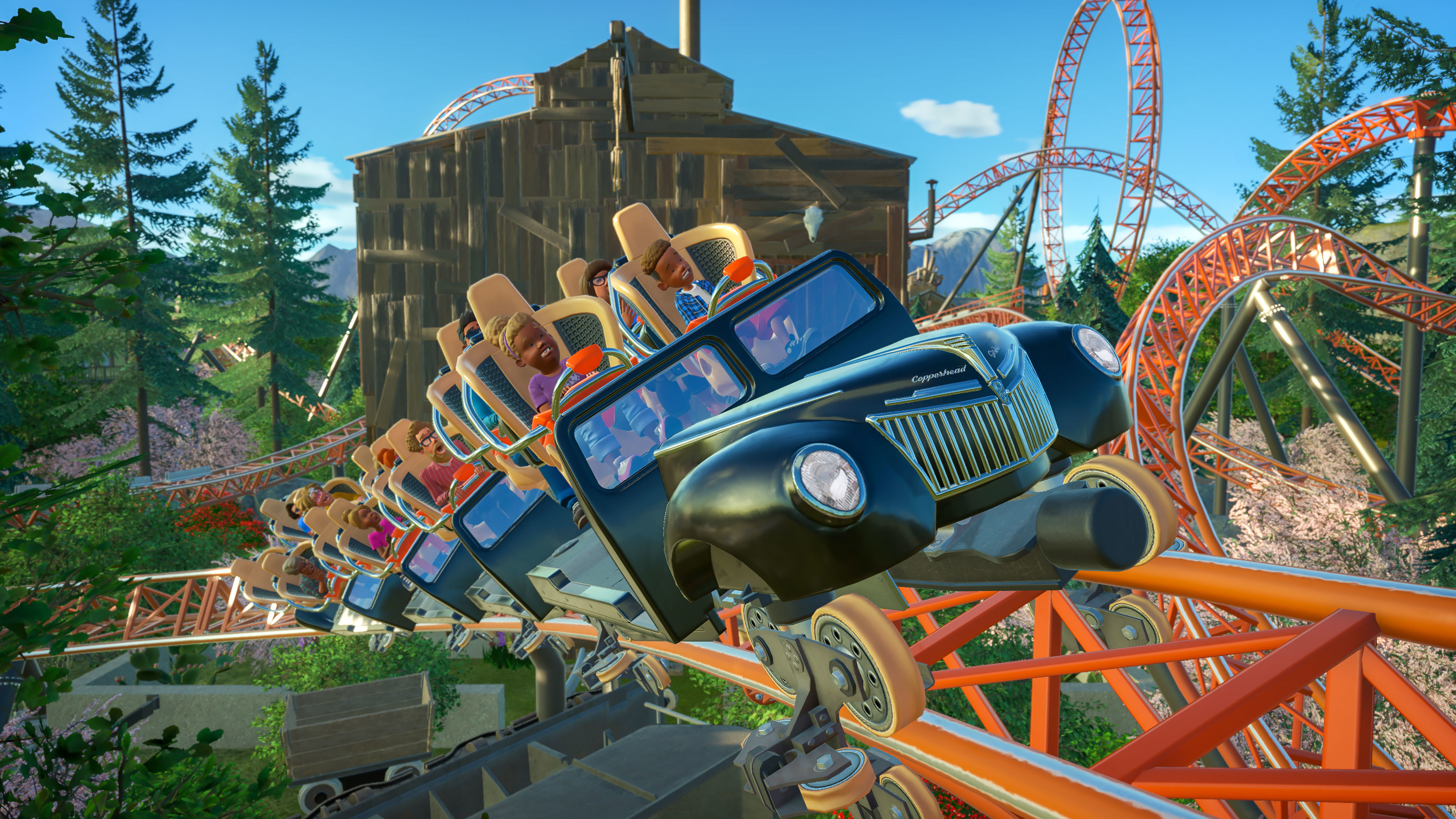 Planet Coaster :: Carowinds Copperhead Strike and Classic Rides