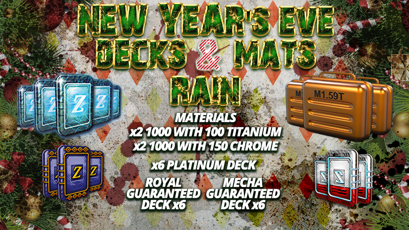 Dec 27, 2017 New Year's Eve Decks Mats Rain! Community