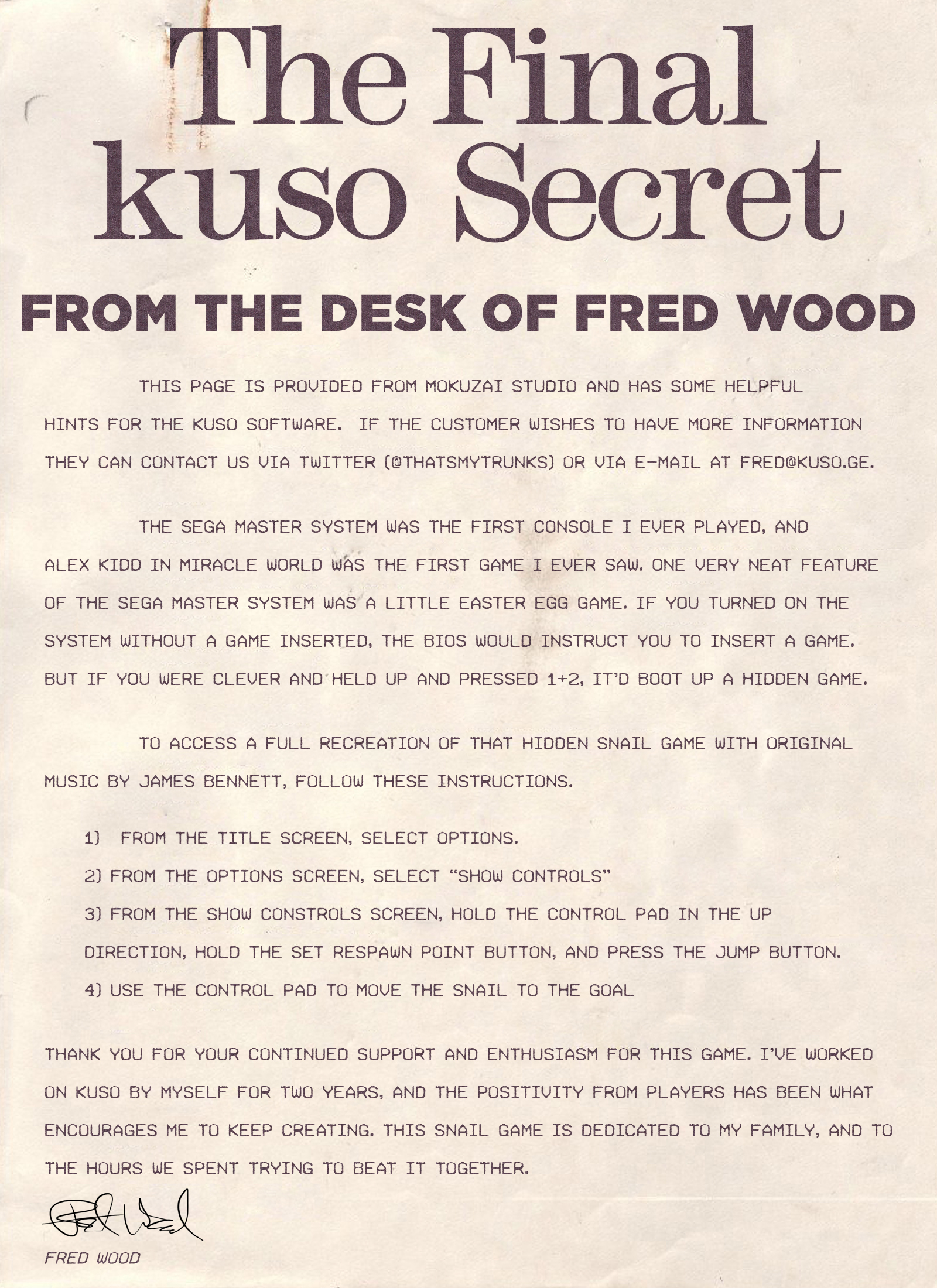 kuso :: Group Announcements
