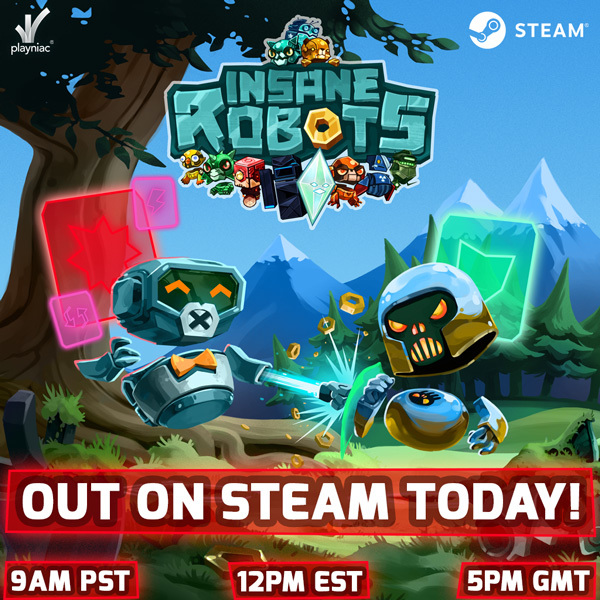 Insane Robots :: Insane Robots is OUT TODAY at 9am PST
