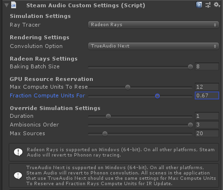 Steam Audio :: Beta 17: Dual Reserved Queue Support with Radeon Rays