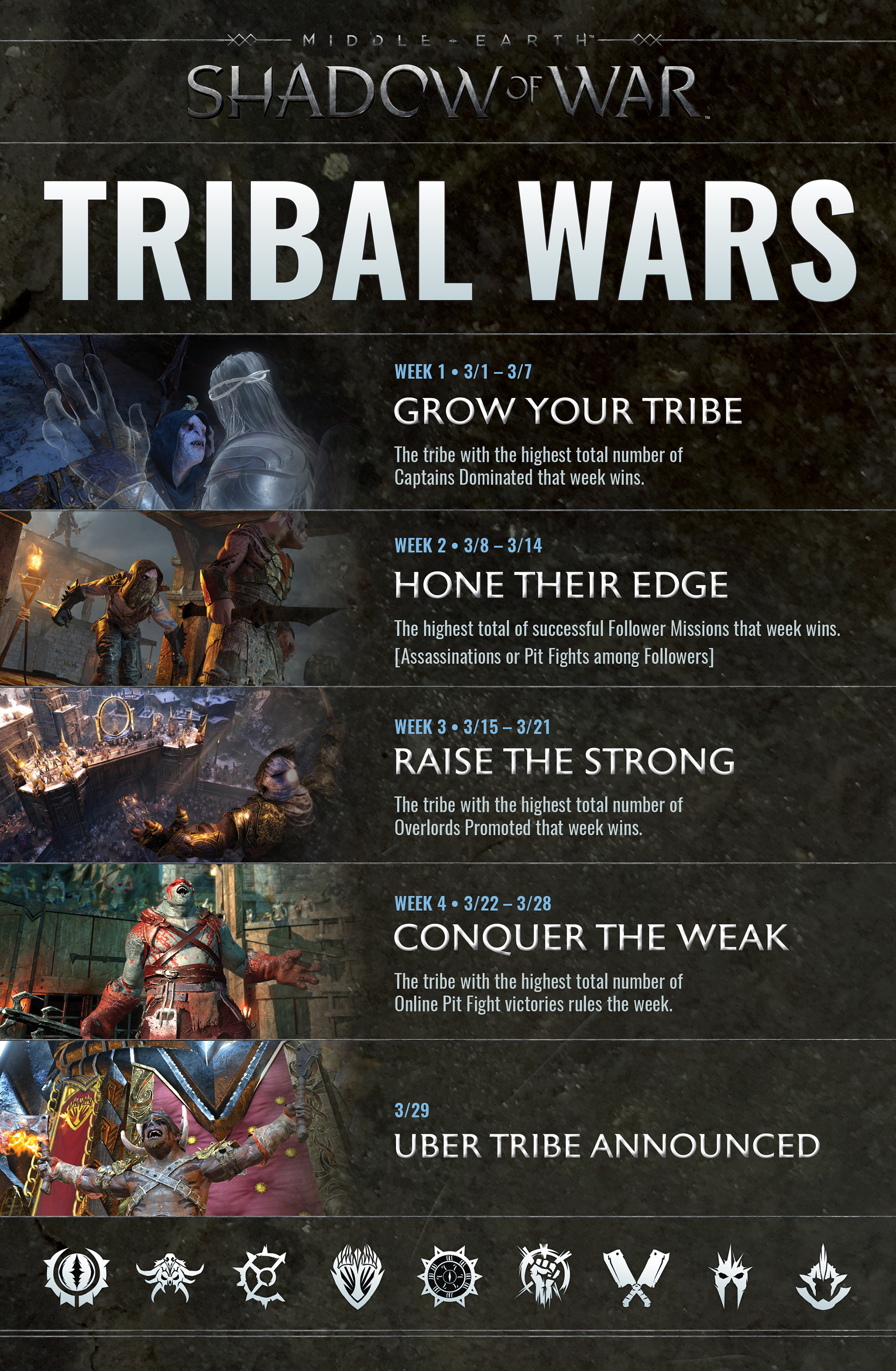 Mar 8, 2018 Make Your Tribe Stronger - Tribal Wars Week 2