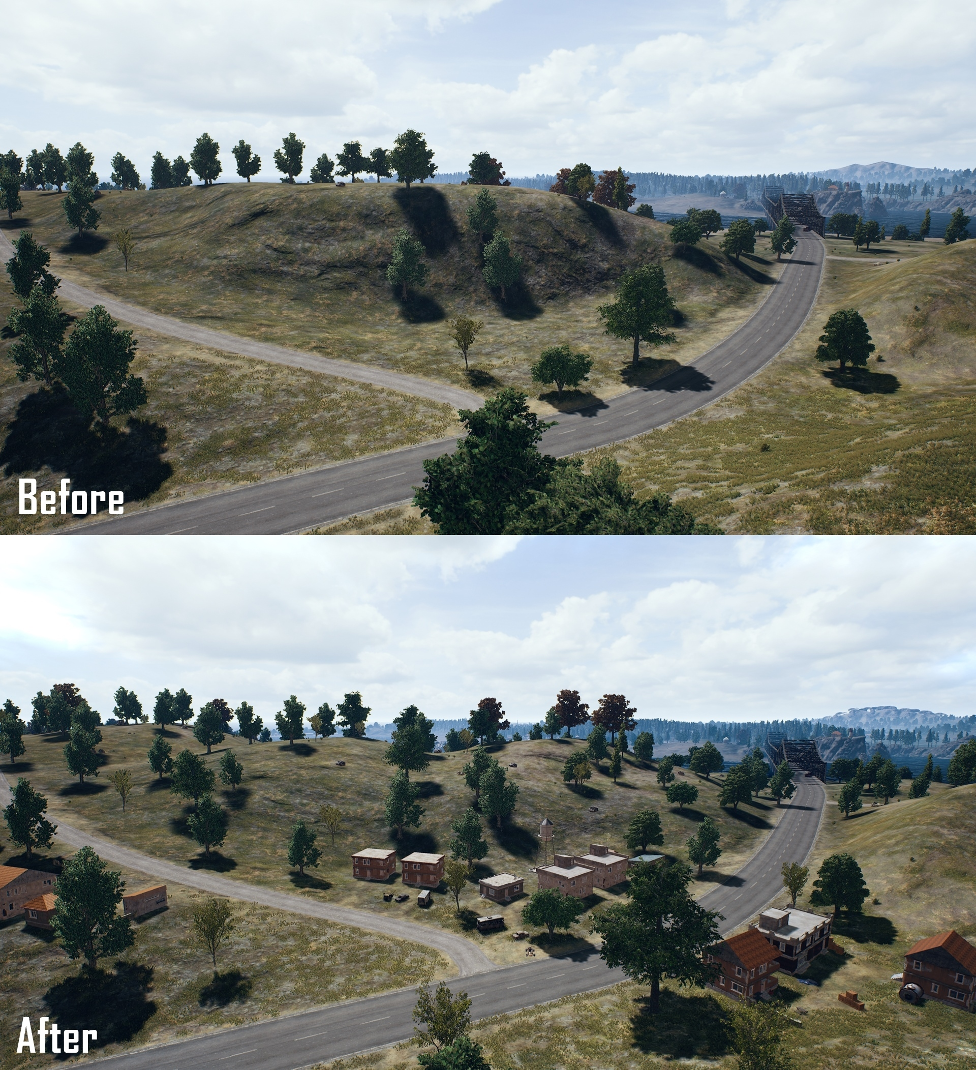 More Tactical Landscapes Have Been Added Near The River.