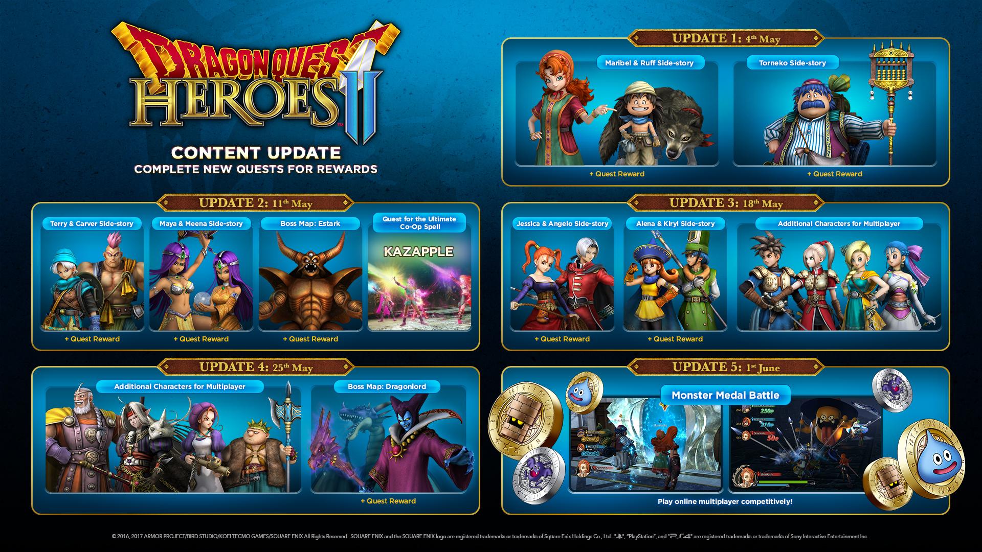 DRAGON QUEST HEROES™ II :: Free Updates Coming to DQ Heroes II!