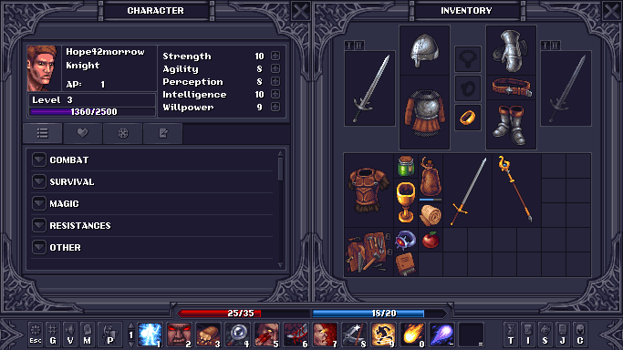 Stoneshard equipment