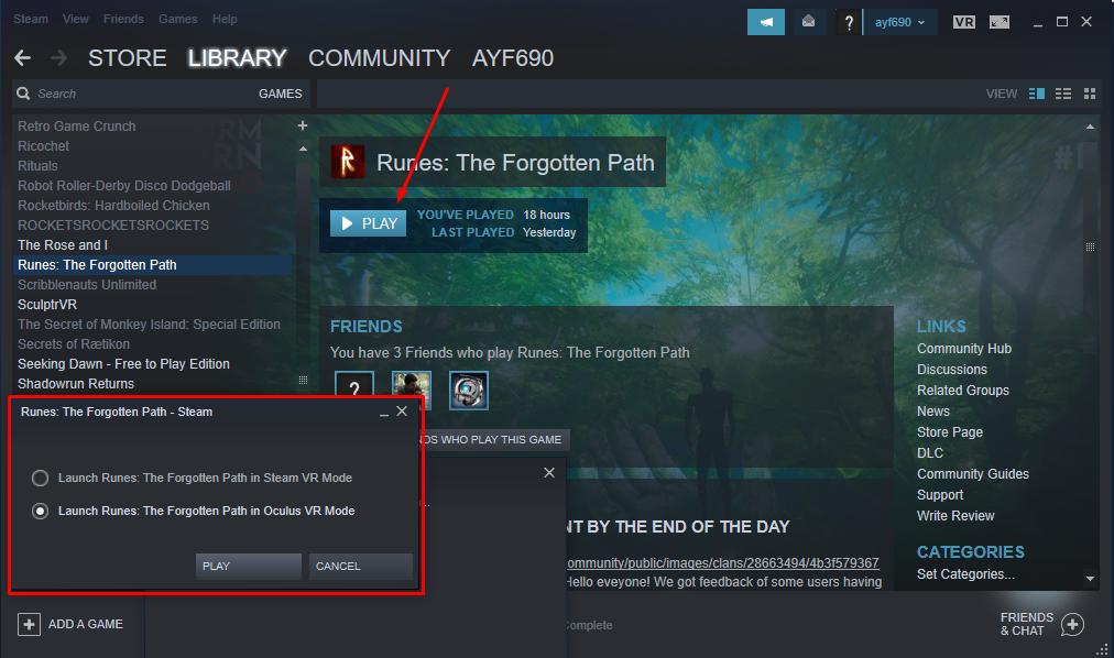 Runes: The Forgotten Path :: OCULUS SDK version is now LIVE too!