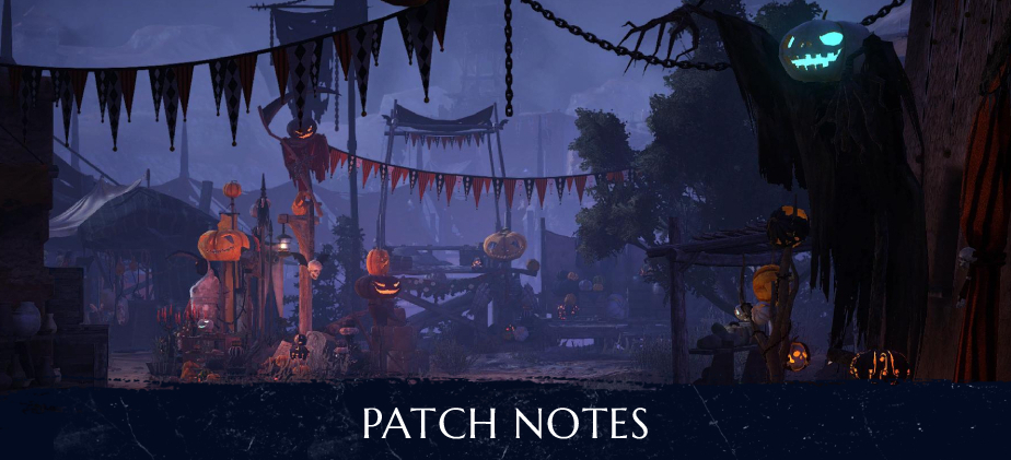Halloween Patch Notes - October 28th 2020