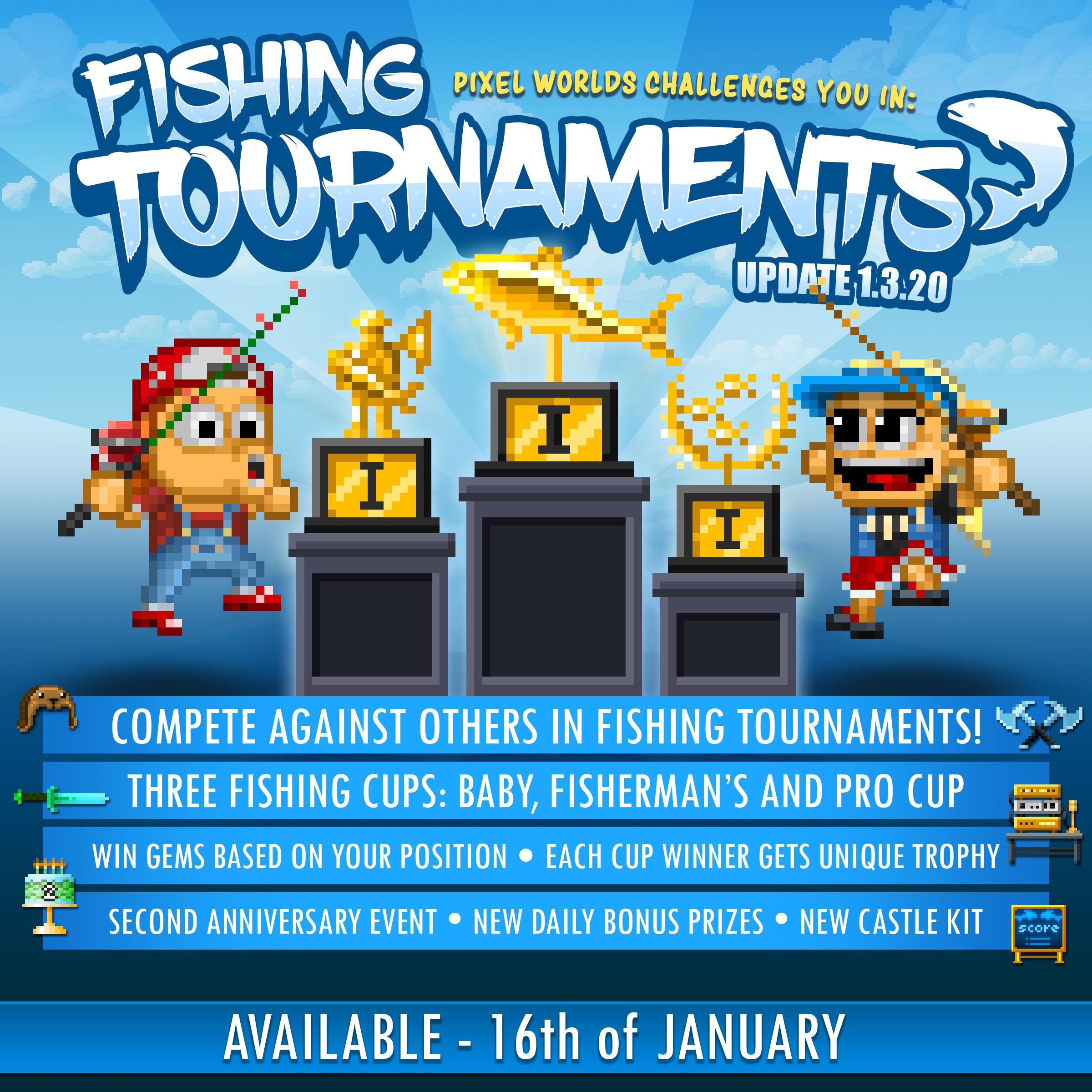 Pixel Worlds :: Fishing Tournament Update!
