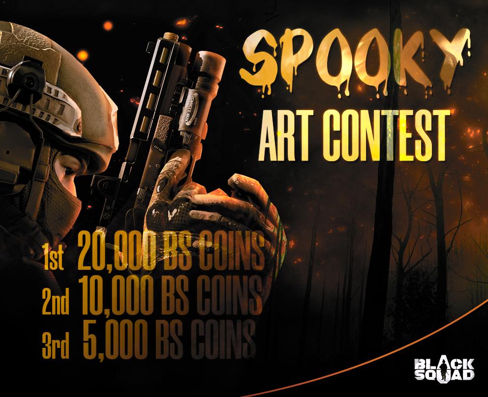 Black Squad Halloween Cover Art Contest Steam Nyheter