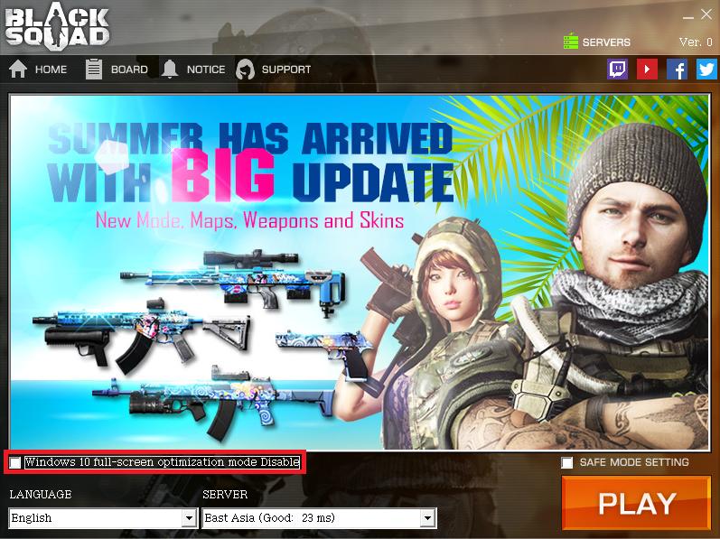 Black Squad :: Windows 10 – White Screen & Black Screen