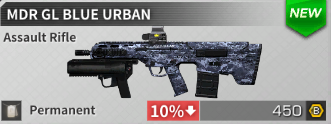 AK12 Blue Urban; MDR Blue Urban