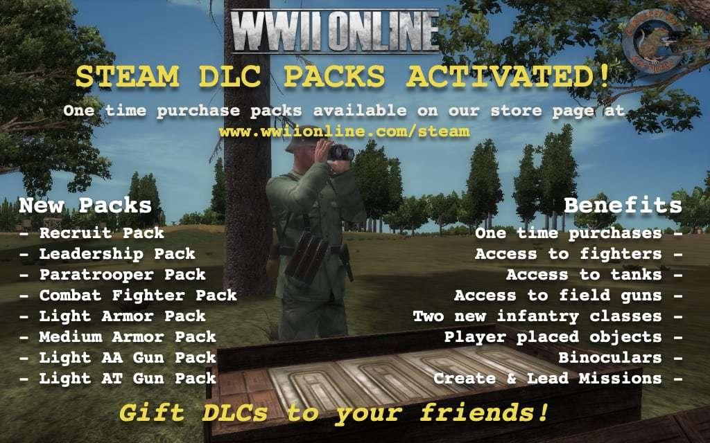World War II Online :: New DLCs Activated!