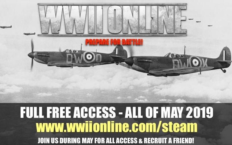 Apr 26 Welcome Back Soldier - Starting May 1st! WWII Online