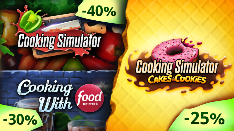 Cooking Simulator discounts during the Autumn Sale!