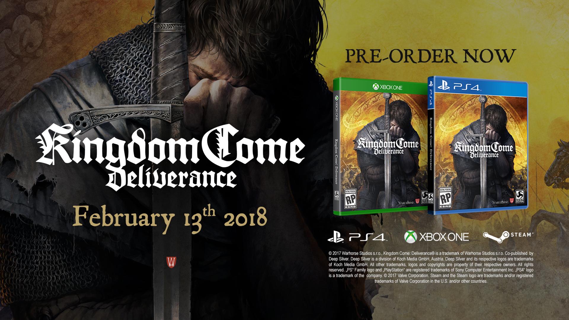 Feb 1, 2018 Kingdom Come: Deliverance - HUGE Contest