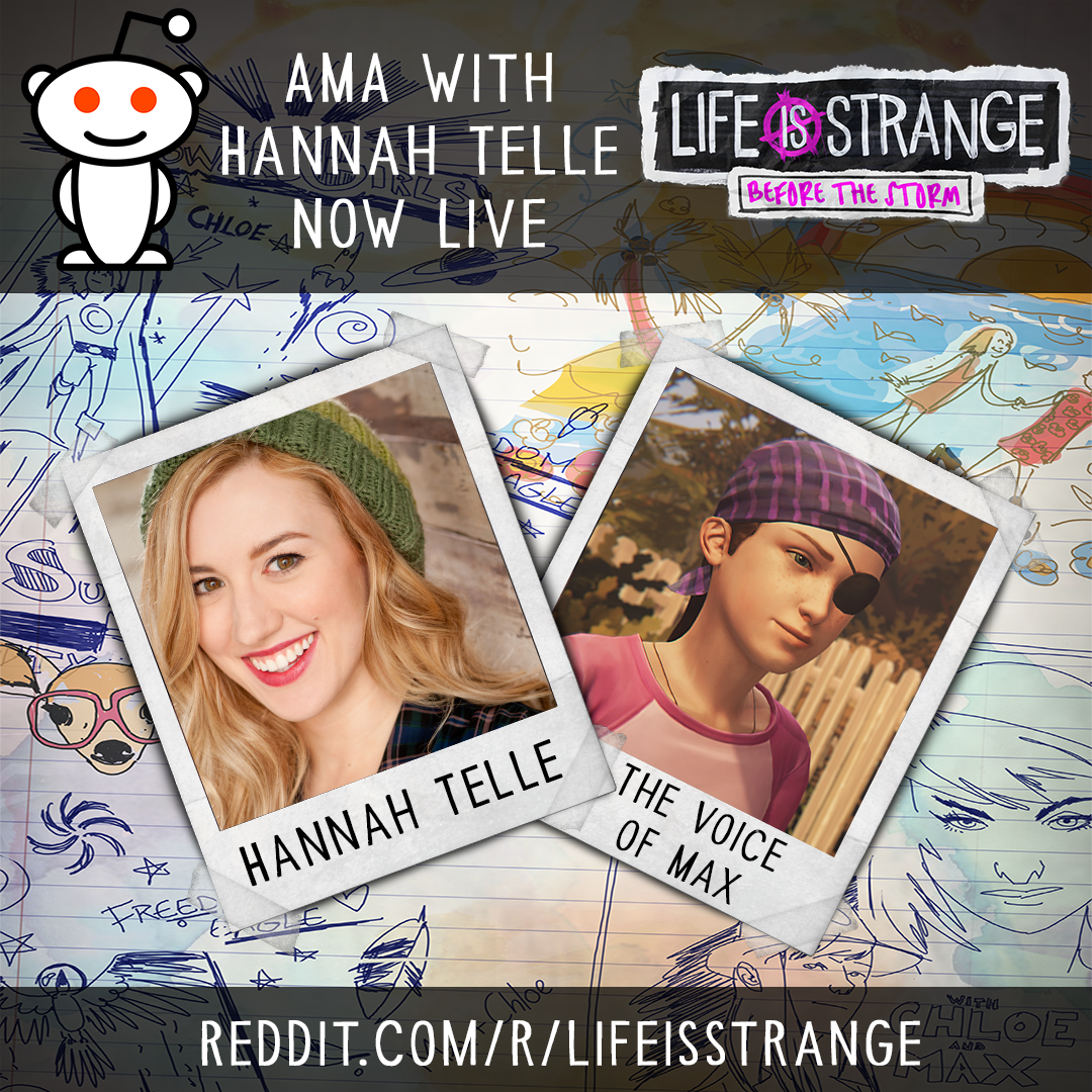 Hannah Telle is now live with an AMA on reddit! Join in and ask her  anything, but you must ask it on the reddit thread here.