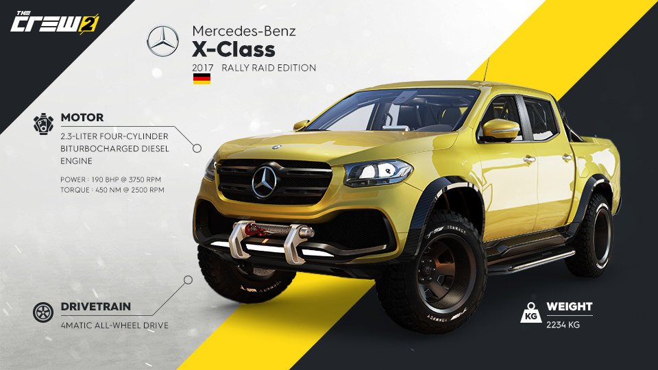 FORGE YOUR OWN PATH WITH THE MERCEDES BENZ X CLASS RALLY RAID EDITION IN CREWR 2