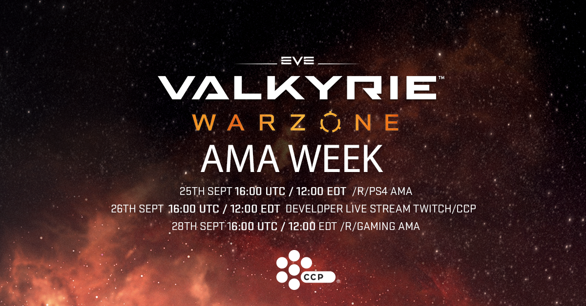EVE: Valkyrie - Warzone :: Group Announcements