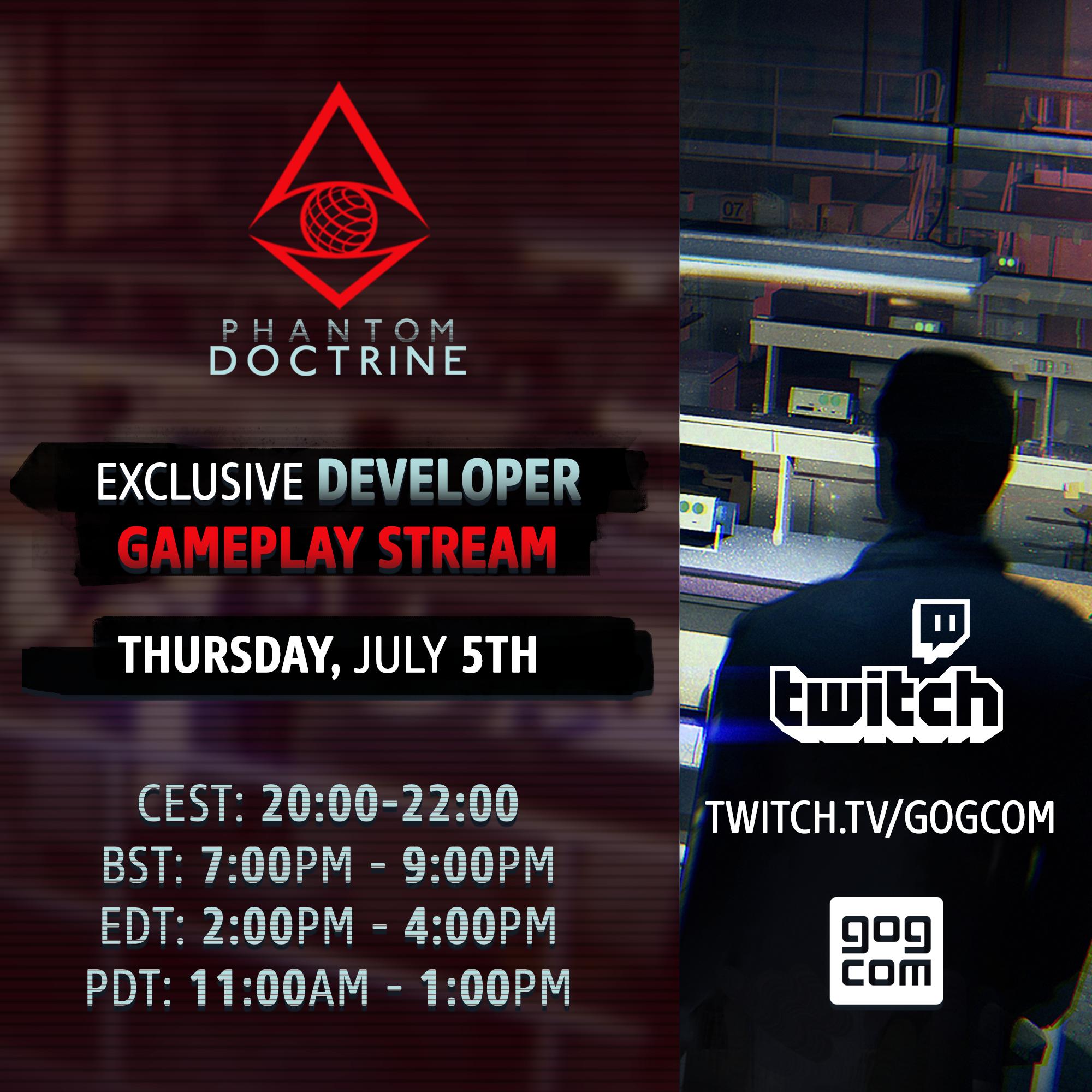 Phantom Doctrine :: Phantom Doctrine | Twitch Developer Livestream