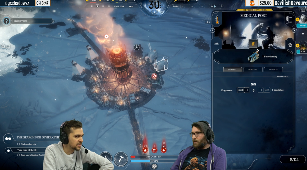 Frostpunk :: New Frostpunk build livestream at Yogscast channel!