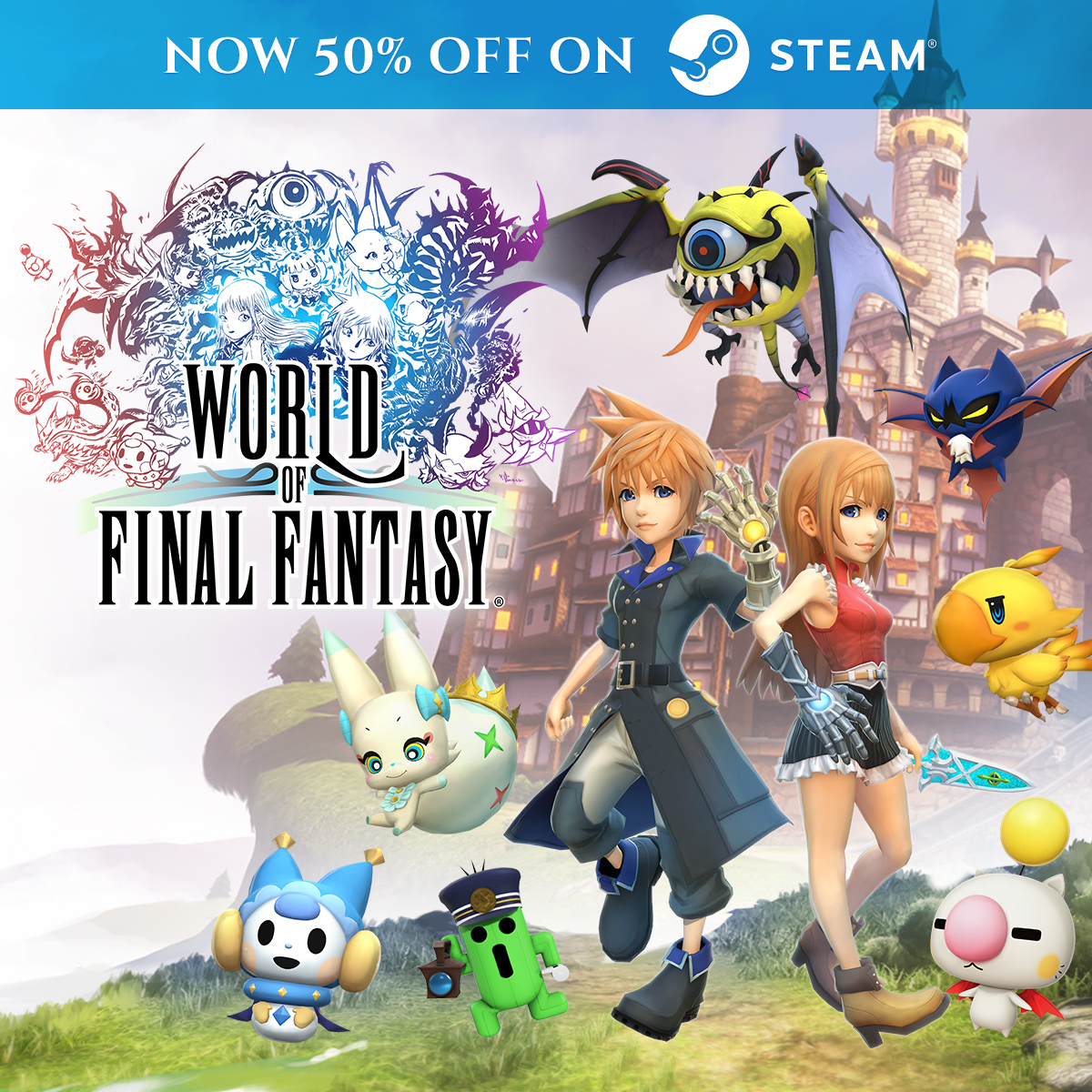 Get 50% off World of Final Fantasy!