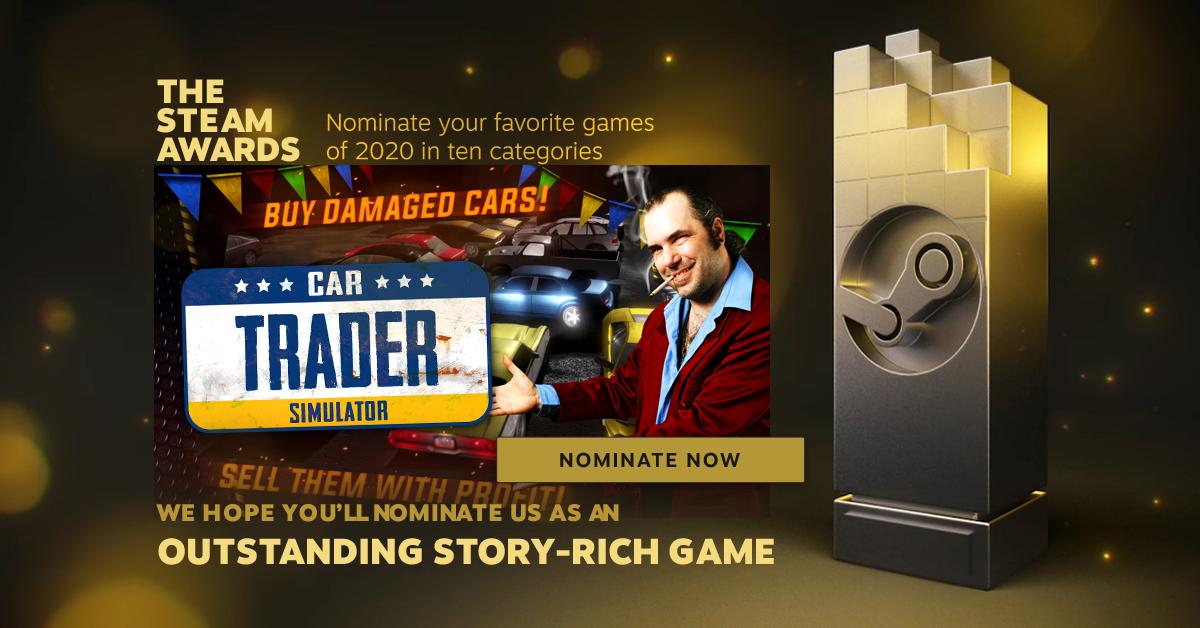 Vote for Car Trader Simulator! - The Steam Awards