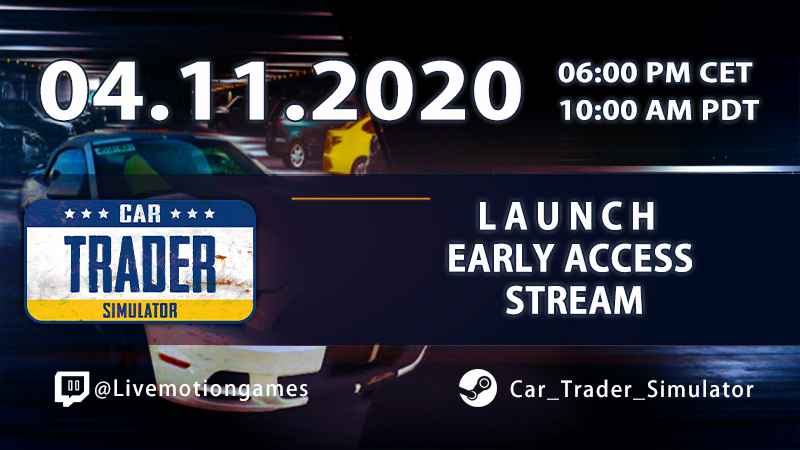Car Trader Simulator Launch Discount - $9.99 - 1 day until release!