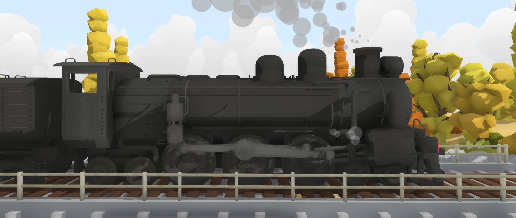 Rolling Line :: Animated steam wheels, new whistles & signal