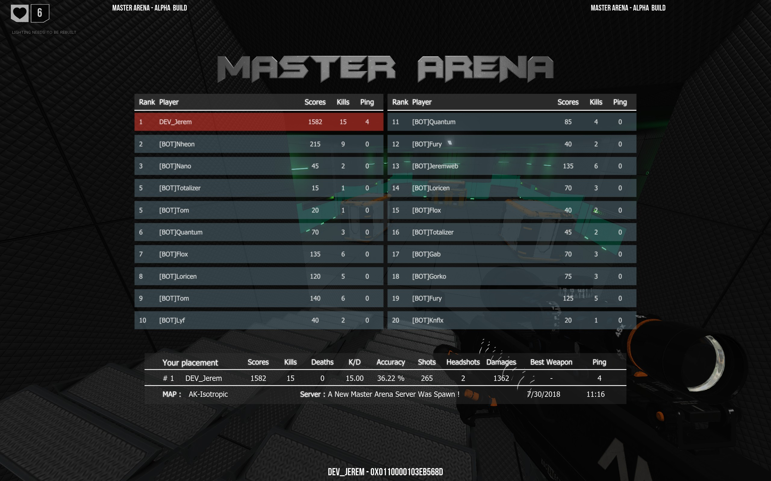 Sep 27, 2018 Update September 2018 Master Arena - DarK