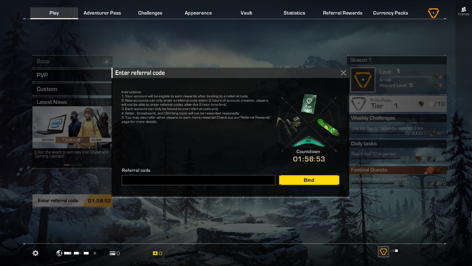 Introducing Refer-A-Friend System! :: Ring of Elysium