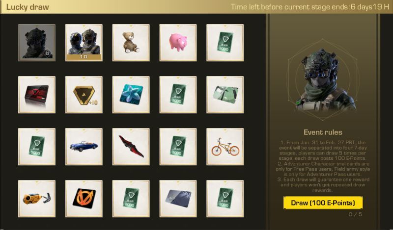 Ring of Elysium :: Lucky draw system launches on Jan  31st