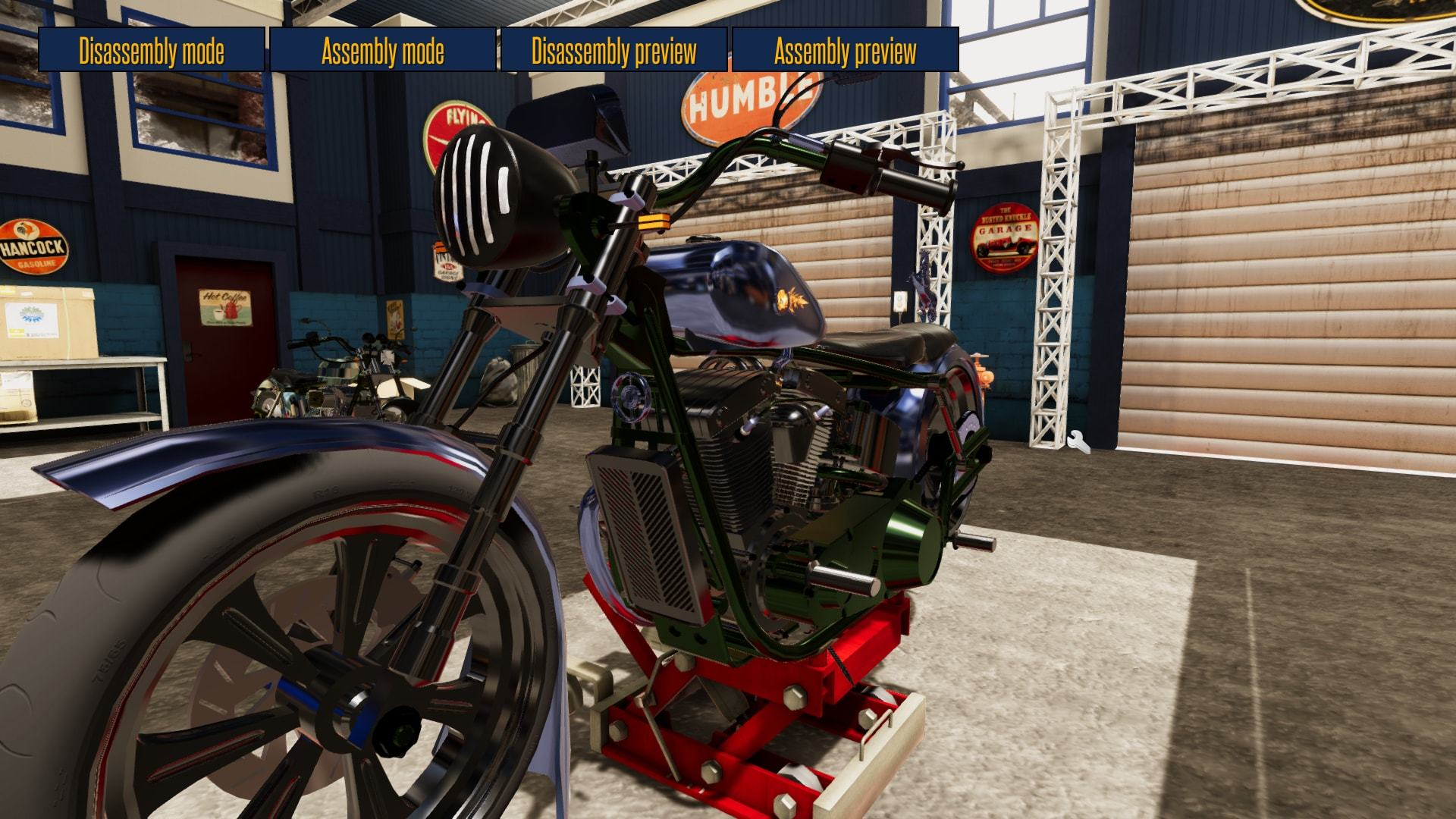 motorbike garage mechanic simulator is out now spend entire evenings taking care of customers accepting various jobs and customizing choppers while