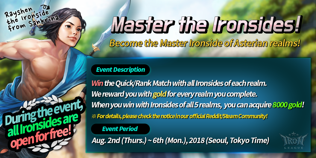 Iron League :: Event Notice: Master the Ironsides! (Aug  2nd