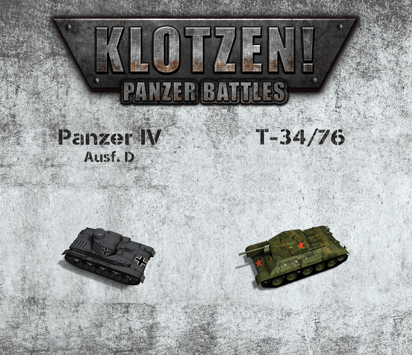 Klotzen! Panzer Battles :: Panzer IV Ausf  D vs T-34/76