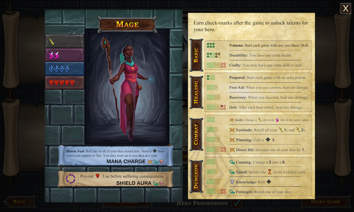 One Deck Dungeon Early Access Update 2 Hero Progression