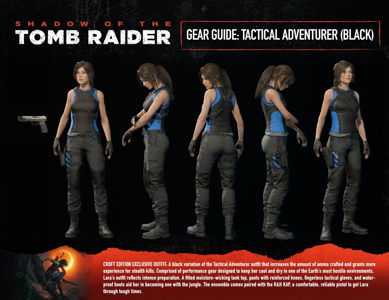 Exclusive Croft Edition Outfit #2: Tactical Adventurer (Black)