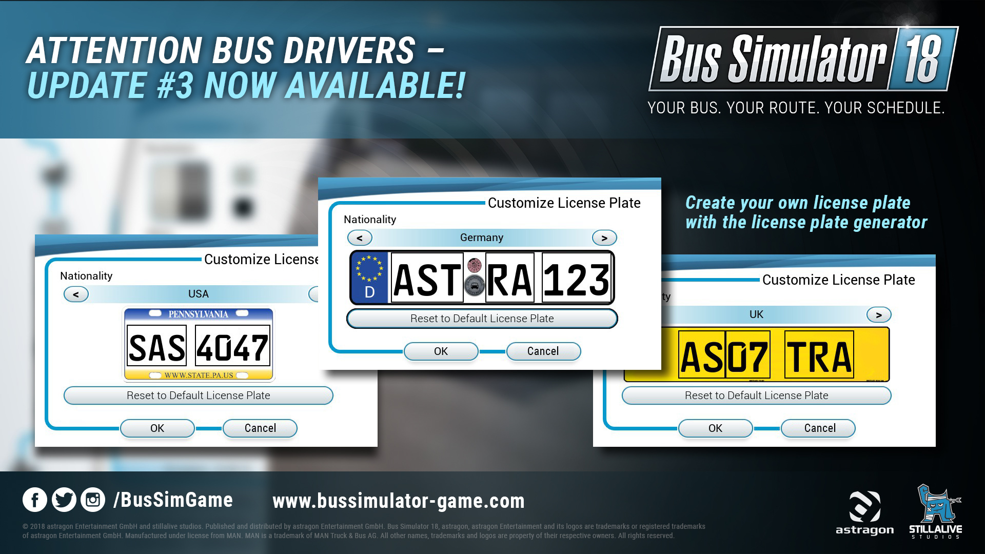 Bus Simulator 18 :: Bus Simulator 18: License Plate Generator Update