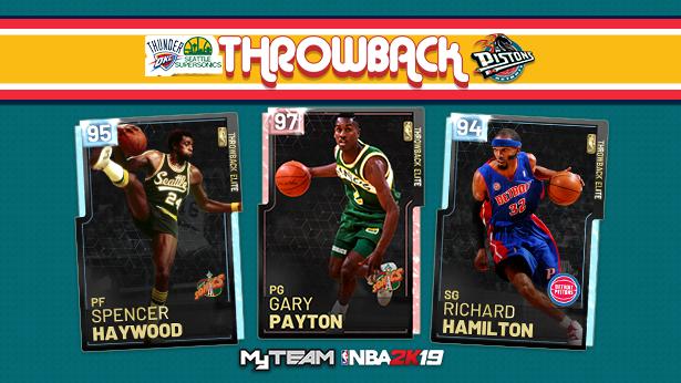 buy popular 39ae2 3b7a3 NBA 2K19 :: SONICS x OKC x PISTONS THROWBACKS